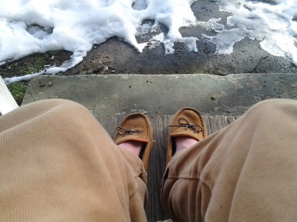 Selfie #36: Cold feet (Feb. 26)