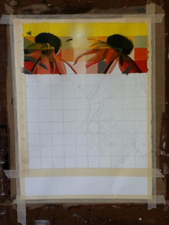 Selfie #25: Painting Progress 1 (Feb. 2)