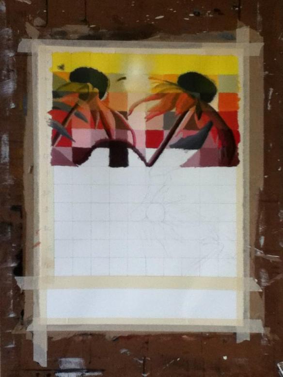 Selfie #27: Painting Progress 3 (Feb. 4)
