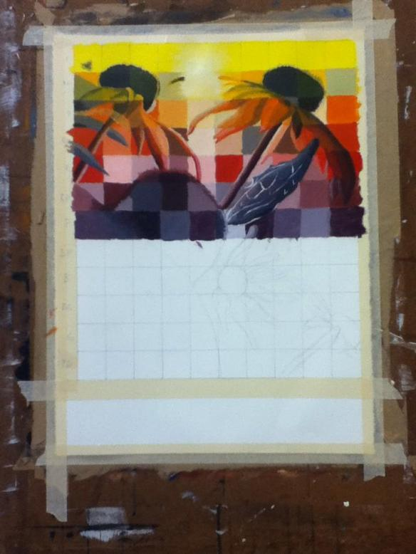 Selfie #29: Painting Progress 5 (Feb. 6)