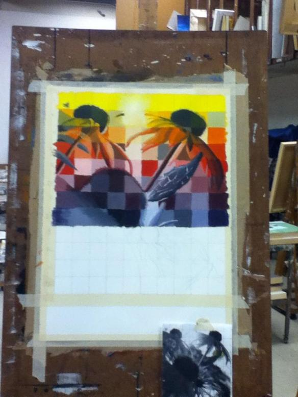 Selfie #30: Painting Progress 6 (Feb, 7)