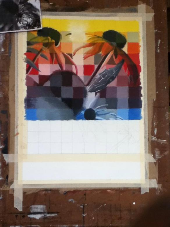 Selfie #31: Painting Progress 7 (Feb. 8)