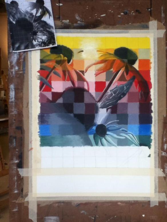 Selfie #32: Painting Progress 8 (Feb. 9)