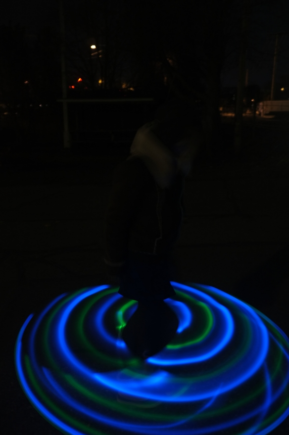 Selfie#31: light up hoop (2/8/14)