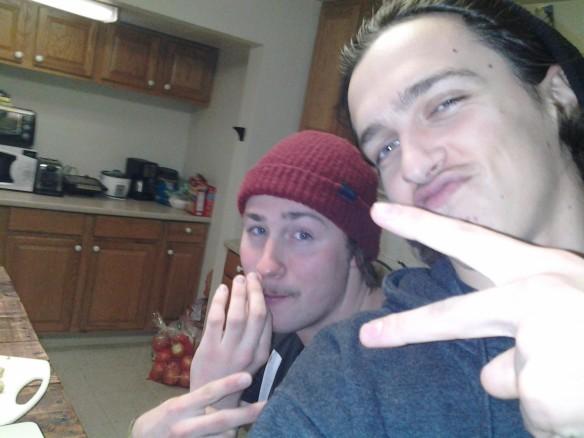 Selfie #44: Kitchen chillin (March 14)