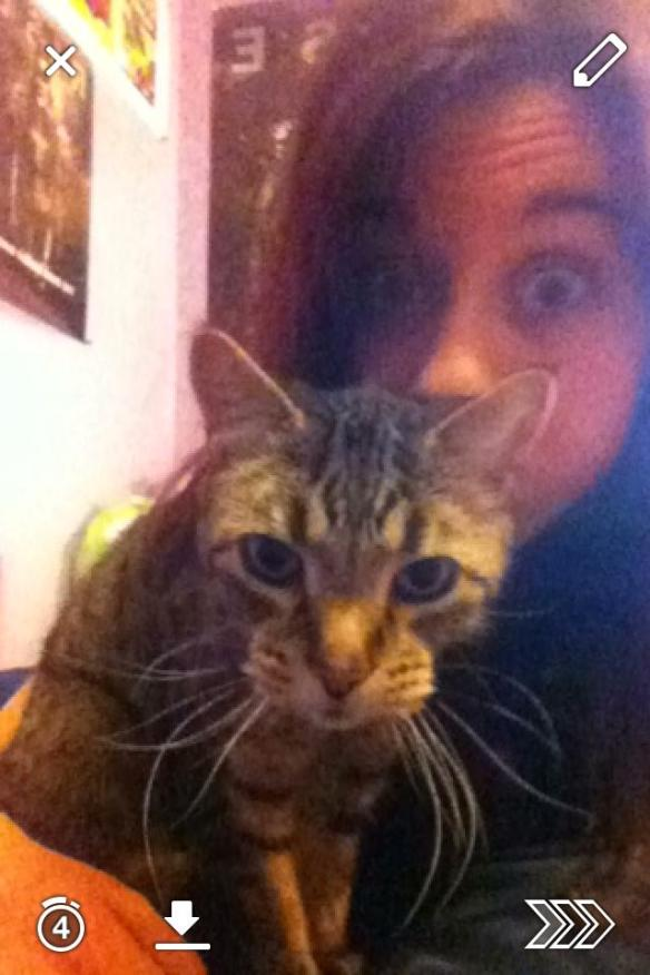 Selfie #41: Kitty Snapchat (Feb. 18)