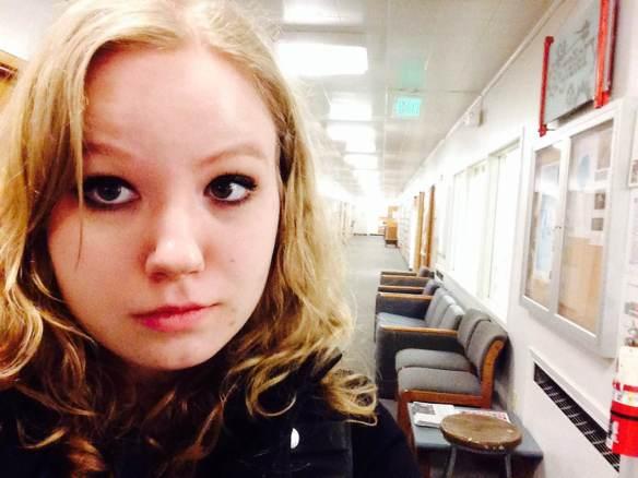 Maggie Degman selfie #46 art dept. (2/22)